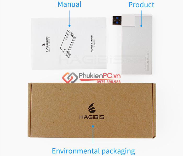 Hub chia USB 3.0-1 ra 4 Hagibis