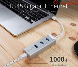 Bộ chia USB 3.0, kèm cổng mạng LAN bạn nên mua cho Macbook Air 11, 13