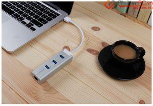 Bộ chia USB ra 3 cổng kèm mạng LAN bạn nên mua cho Dell XPS 13 9343