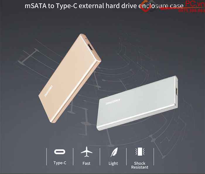 Box SSD mSATA to Type C