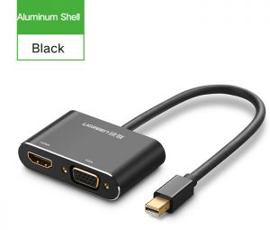 Ugreen-2-in-1-Thunderbolt-Mini-Displayport-DP-to-HDMI-VGA-Adapter-Cable-4K-1080P-20421-20422-phukienpc.vn-1