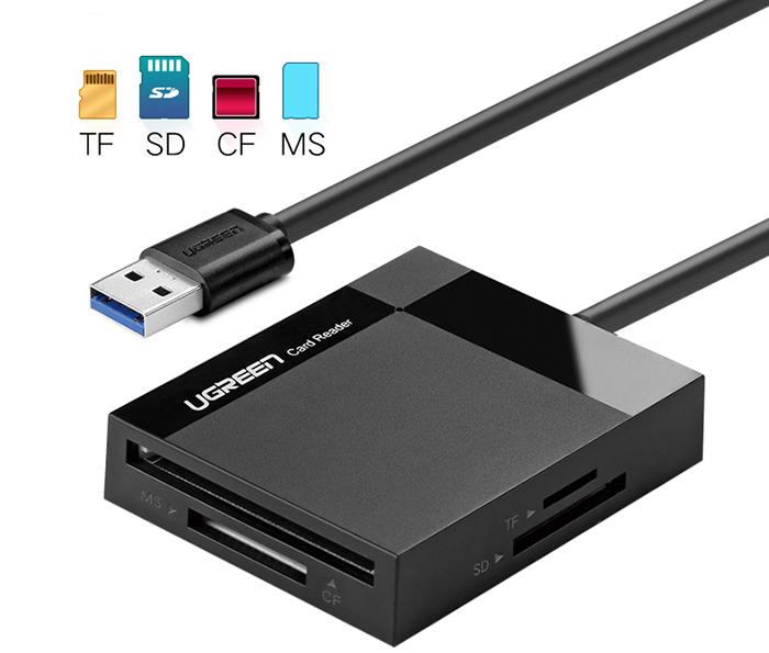 Card Reader đa năng USB 3.0 SD, TF, CF, MS Ugreen 30231 dây 1M