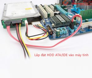 Chuyển đổi ổ cứng HDD IDE sang SATA lắp đặt vào máy tính bàn PC