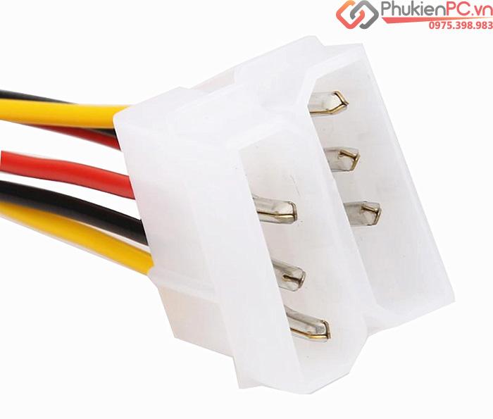 Cáp nguồn 2 IDE 4Pin Molex sang 6Pin PCI-E