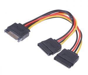 Cáp chia nguồn SATA ổ cứng 1 ra 2