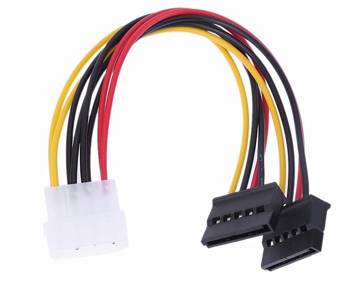 Cáp nguồn IDE 4Pin Molex sang 2 SATA HDD, SSD