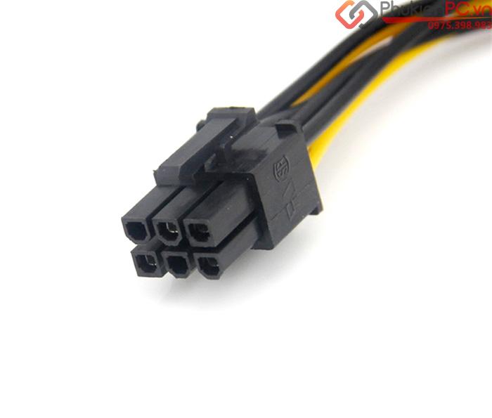 Cáp nguồn SATA sang 6Pin PCI-E cho Card VGA