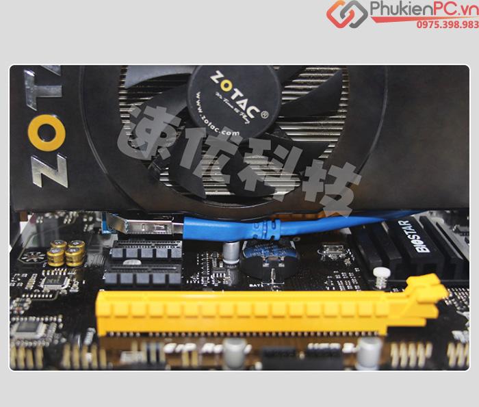 Dây cáp Riser PCIe 1X nối dài 60cm có nguồn phụ