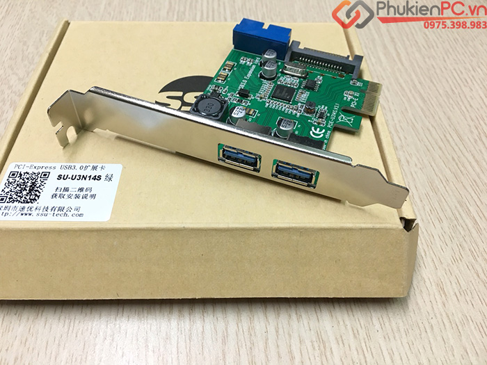 Card PCI-E to 2 USB 3.0, 20Pin chipset NEC720201