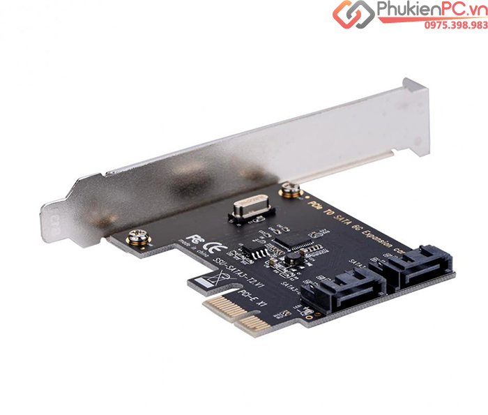Card PCI-E to 2 SATA III chip ASM1061