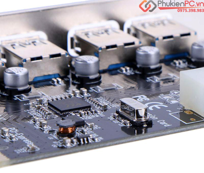 Card chuyển đổi PCI-e to 4 USB 3.0 chipset VL805
