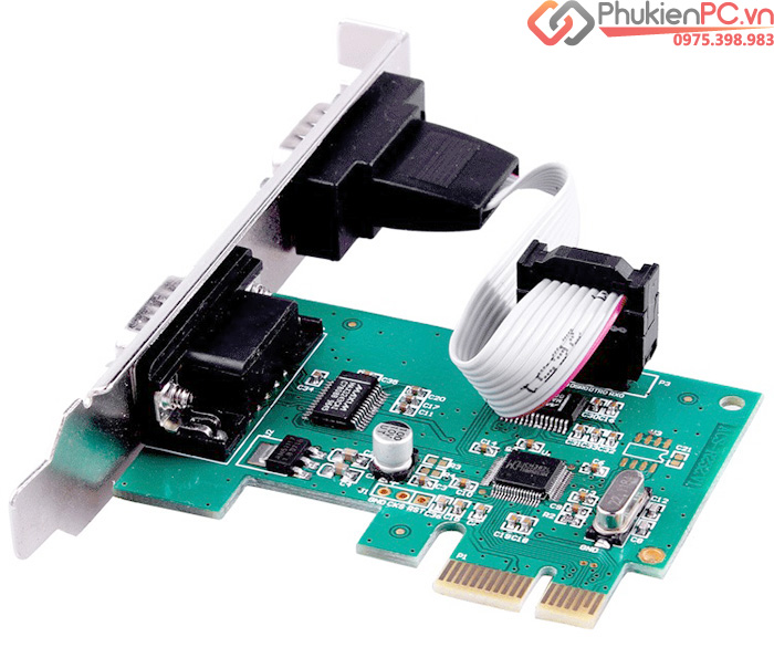 Card PCI-E sang 2 RS232 (COM, DB9) Chipset WCH382