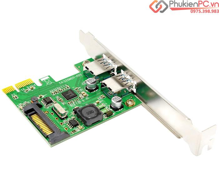 Card chuyển đổi PCI-E to 2 USB 3.0 Chipset NEC720202