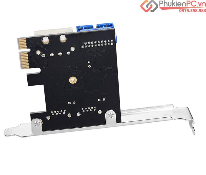 Card chuyển đổi PCI-E ra 2 USB 3.0, 20Pin Chipset VL805