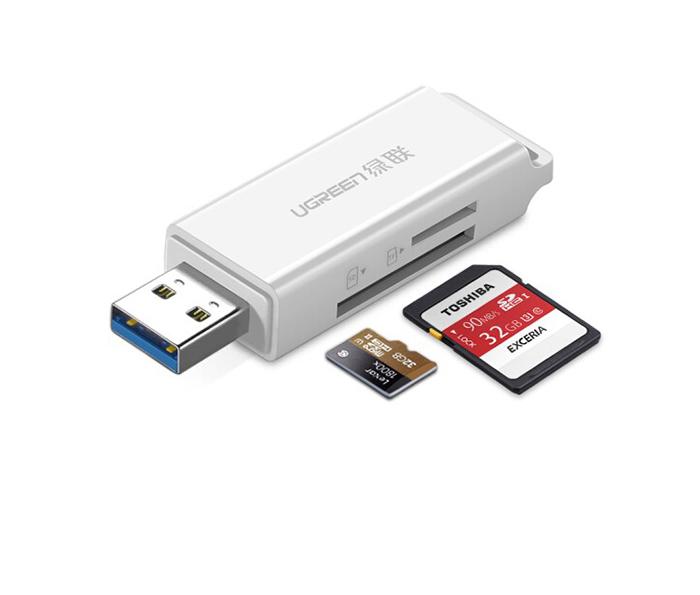 Đầu đọc thẻ nhớ USB 3.0 SD, TF nhỏ gọn Ugreen 40751 chính hãng