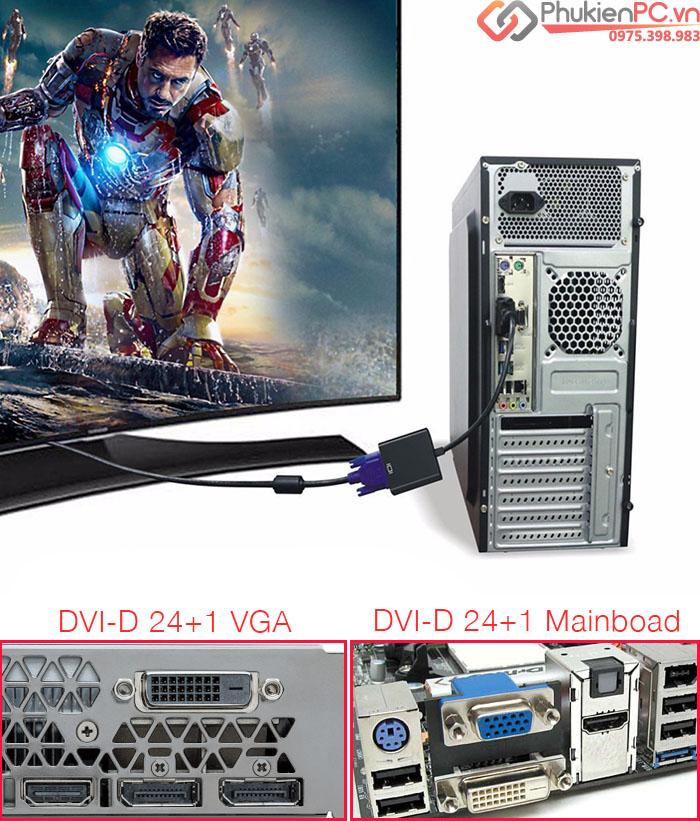 DVI-D 24+1 to VGA