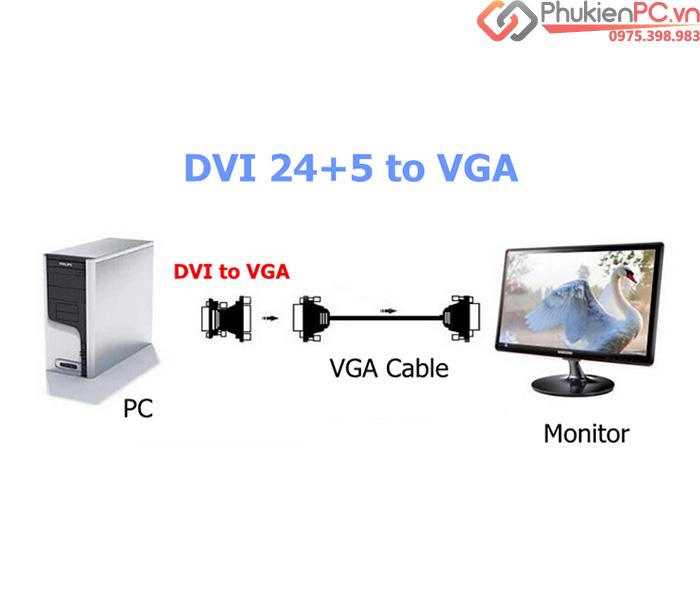 DVI-I 24+5 sang VGA female (chân cái)