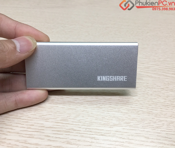 Box SSD mSATA to Type C vỏ nhôm Kingshare
