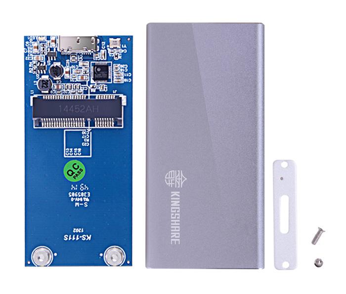 Box SSD mSATA to USB 3.0 vỏ nhôm nhỏ gọn