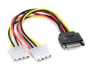 Cáp nguồn chuyển đổi SATA sang 2 IDE 4 Pin Molex