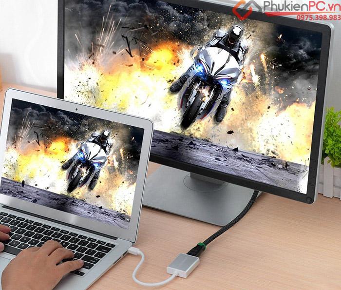 Cáp Thunderbolt sang HDMI Ugreen 10401 vỏ nhôm