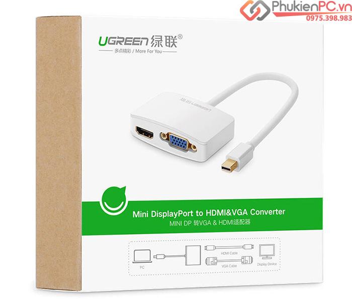 Cáp Thunderbolt sang HDMI, VGA Ugreen 10427