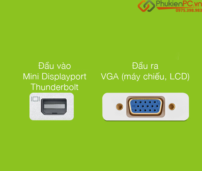 Cáp Apple Thunderbolt to VGA Adapter MB572Z