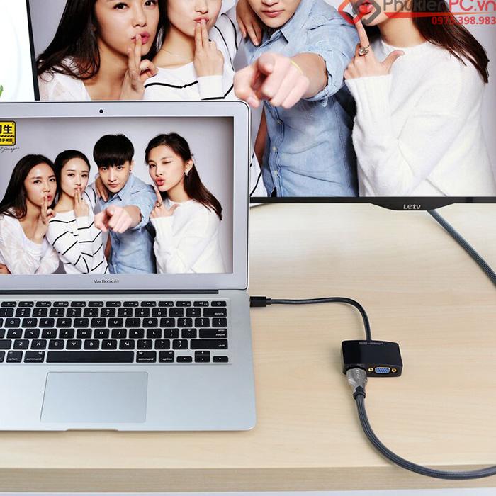 Cáp Thunderbolt sang HDMI, VGA Ugreen 10439