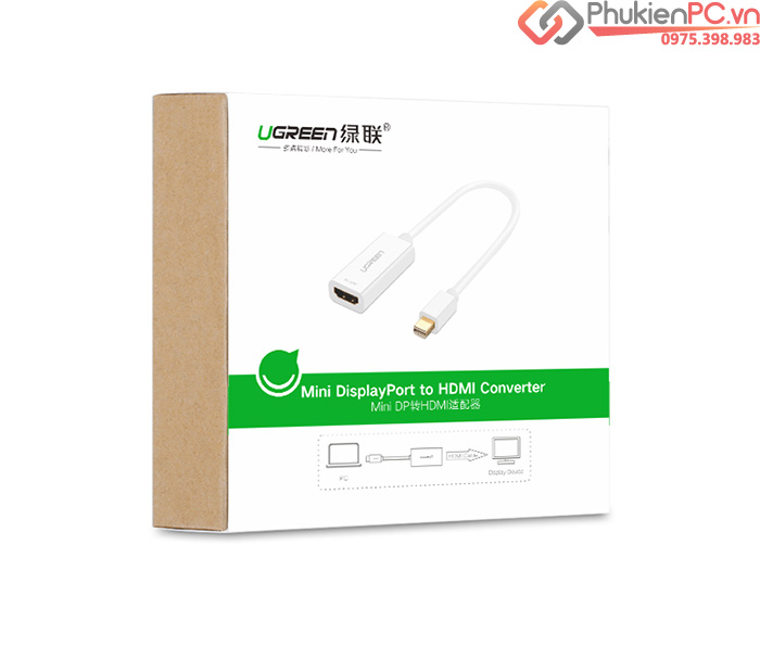 Cáp Thunderbolt sang HDMI Adapter 20cm Ugreen 10460