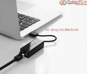 Thiết bị chuyển đổi Macbook Air 13 ra cổng mạng LAN tự nhận driver