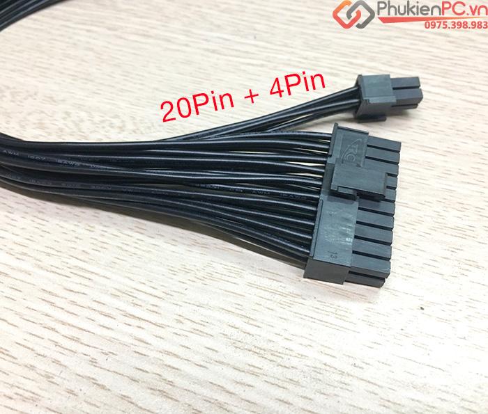 Cáp nối dài nguồn ATX 24Pin 30cm màu đen