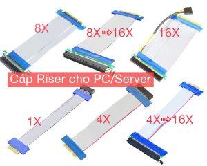 Bán cáp Riser Card 1X, 4X, 8X, 16X cho PC, Server