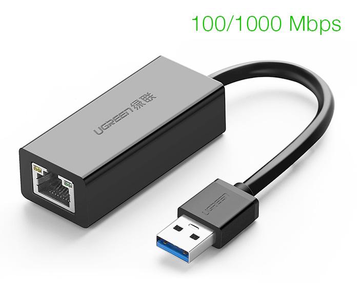 Cáp chuyển đổi USB 3.0 sang LAN 1000 Mbps Ugreen 20256