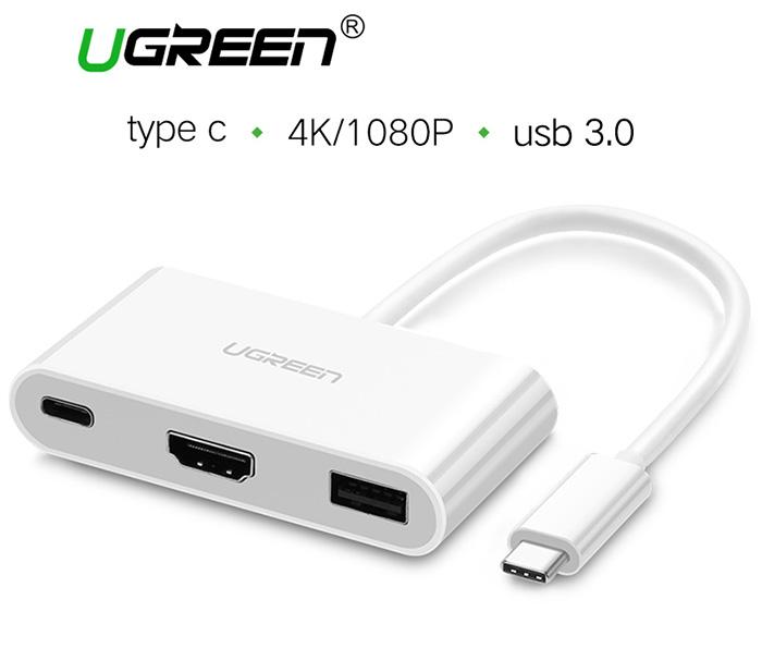 Cáp chuyển đổi Thunderbolt 3 ra HDMI, USB 3.0, hỗ trợ sạc Ugreen 30377