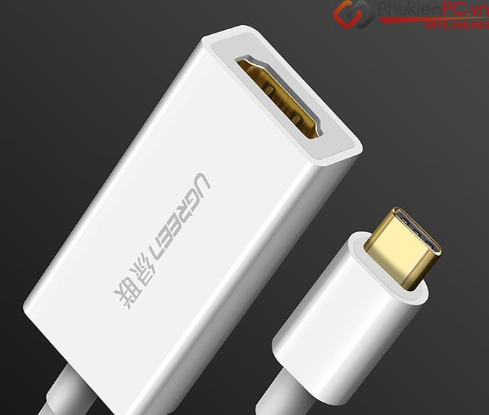 Cáp chuyển đổi USB-C sang HDMI Ugreen 40273 chính hãng