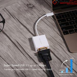 Cách kết nối Apple Macbook 12 inch sang máy chiếu VGA