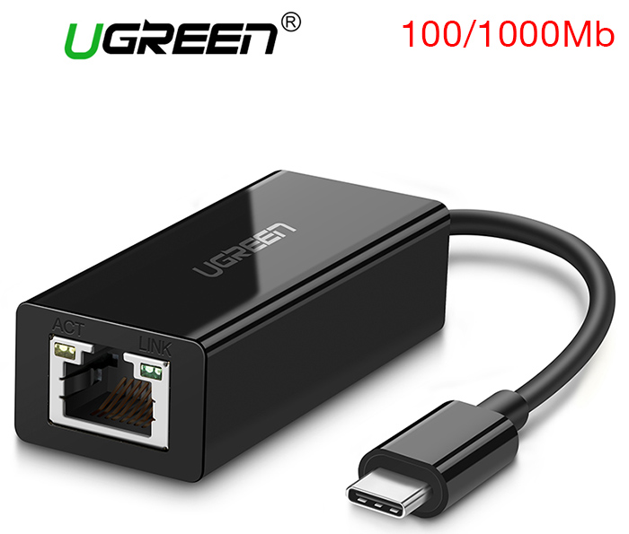 Cáp Thunderbolt 3 to LAN Gigabit 1000 Mbps Ugreen 50307