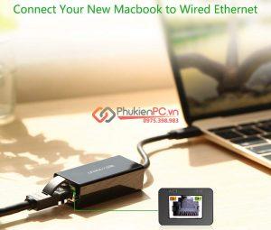 Giải pháp kết nối mạng LAN có dây cho Macbook 13 2017