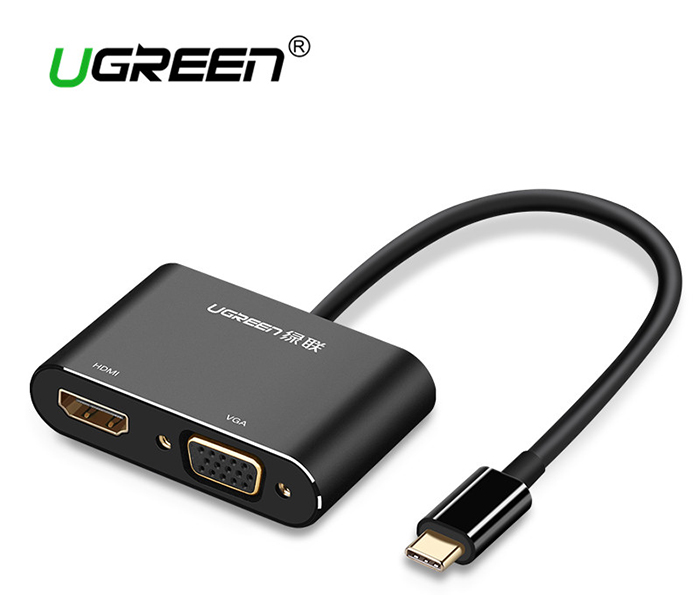 Cáp chuyển đổi Thunderbolt 3 ra HDMI, VGA Ugreen 50318