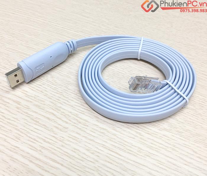 Dây cáp Console USB dài 1.5m cấu hình server, router, cisco