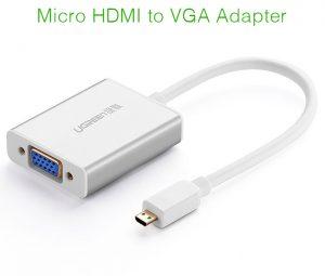 Cáp chuyển đổi Micro HDMI ra VGA Ugreen 40222 chính hãng