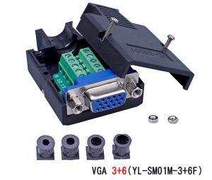 Đầu nối VGA 3+6 Female vặn vít