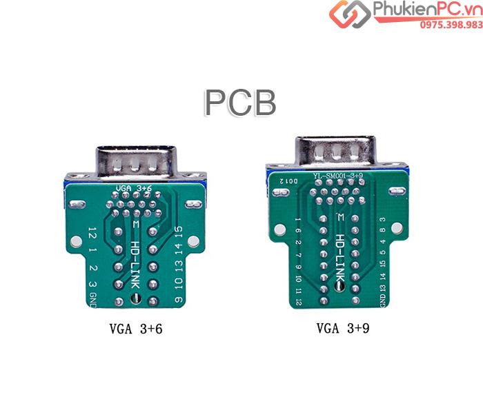 Đầu nối VGA 3+6 Male female vặn vít