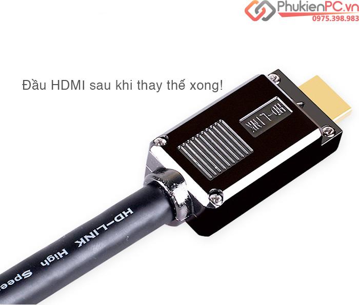 Đầu hàn cáp HDMI 1.4, HDMI 2.0 vỏ ốp kim loại