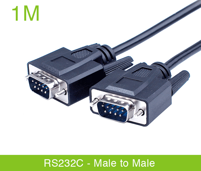 Dây cáp RS232c null modem male to male nối chéo 1M