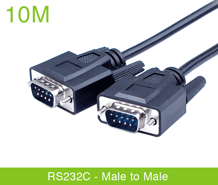 Dây cáp RS232c null modem male to male nối chéo 10M
