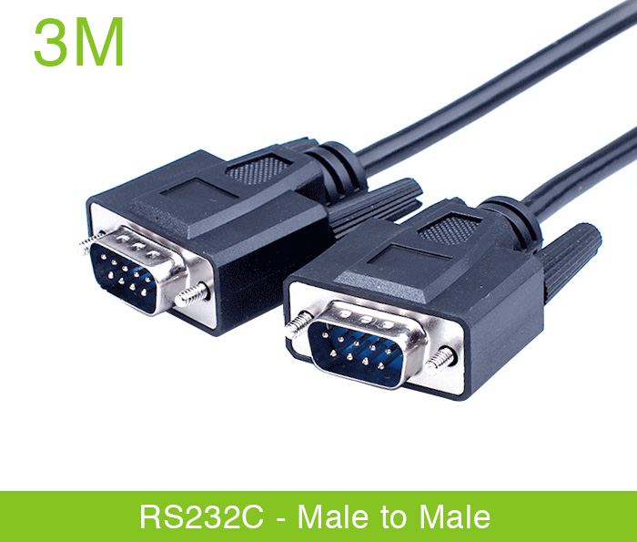 Dây cáp RS232c null modem male to male nối chéo 3M