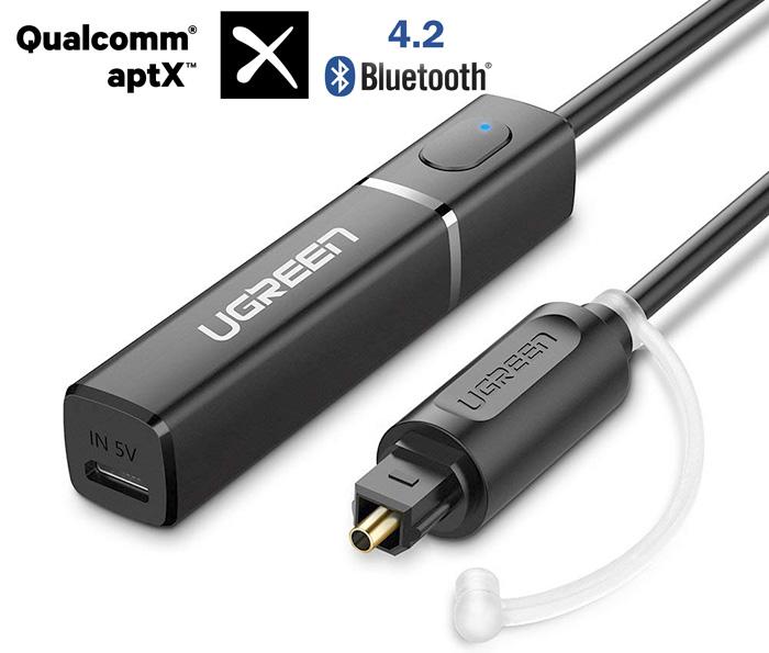 Thiết bị phát Bluetooth 4.2 đầu vào Optical hỗ trợ aptX Ugreen 50213