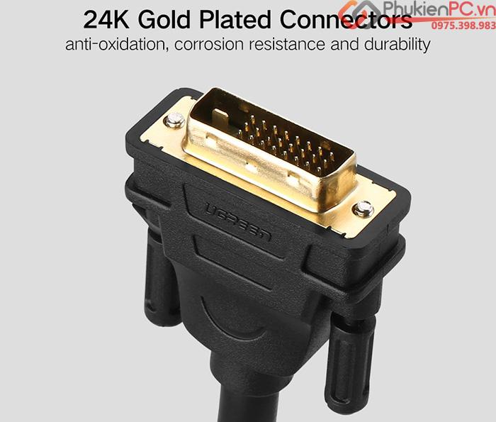 Cáp DVI-D Dual Link 24+1 dài hỗ trợ 2K, FullHD