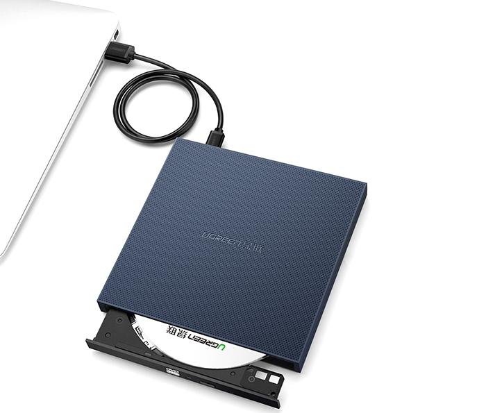 Ugreen 40576 ổ đĩa quang DVD gắn ngoài cổng USB cho Laptop, Macbook